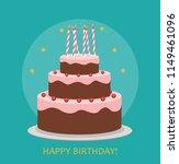happy birthday poster... | Shutterstock . vector #1149461096