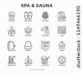 spa   sauna thin line icons set ... | Shutterstock .eps vector #1149466190