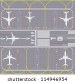 airport layout. vector...   Shutterstock .eps vector #114946954