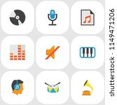 audio icons flat style set with ... | Shutterstock .eps vector #1149471206