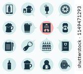 drink icons set with lever ... | Shutterstock .eps vector #1149471293