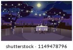 romantic dinner on roof with... | Shutterstock .eps vector #1149478796