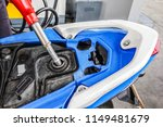 add gasoline fuel to motorbike  ... | Shutterstock . vector #1149481679