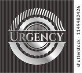 urgency silver emblem or badge | Shutterstock .eps vector #1149482426
