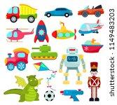 kids toys vector cartoon games... | Shutterstock .eps vector #1149483203