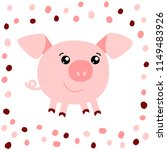 vector illustration of pig on... | Shutterstock .eps vector #1149483926