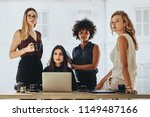 group of multiracial... | Shutterstock . vector #1149487166