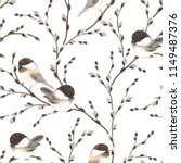 Seamless Pattern Of Willow...