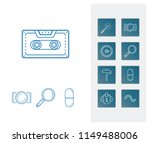 pack icon set and photography...