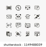 idea icon set and review with... | Shutterstock .eps vector #1149488039