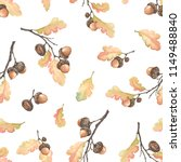 autumn seamless pattern with... | Shutterstock .eps vector #1149488840
