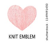 knit emblem. emblem for... | Shutterstock .eps vector #1149491450