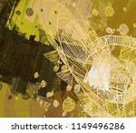 contemporary art. hand made art.... | Shutterstock . vector #1149496286