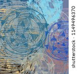 contemporary art. hand made art.... | Shutterstock . vector #1149496370