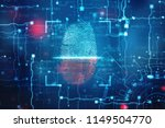 fingerprint integrated in a... | Shutterstock . vector #1149504770