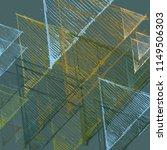 contemporary art. hand made art.... | Shutterstock . vector #1149506303