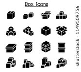 boxes icon set  | Shutterstock .eps vector #1149509756