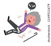 old woman falling and got bone... | Shutterstock .eps vector #1149511679