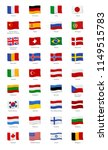 vector set of the flags of the... | Shutterstock .eps vector #1149515783