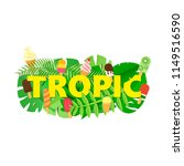 word tropic composition with... | Shutterstock .eps vector #1149516590