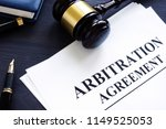 arbitration agreement and gavel ... | Shutterstock . vector #1149525053