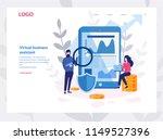 vector illustration of virtual... | Shutterstock .eps vector #1149527396