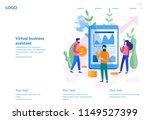 vector illustration of virtual... | Shutterstock .eps vector #1149527399