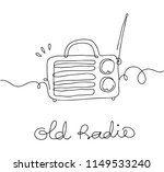 old radio doodle | Shutterstock .eps vector #1149533240