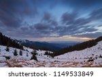 winter landscape. evening...   Shutterstock . vector #1149533849