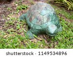 turtle statue on green grass... | Shutterstock . vector #1149534896