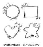 floral frame doodle | Shutterstock .eps vector #1149537299