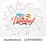 happy birthday lettering text... | Shutterstock .eps vector #1149544853