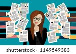 applying for job  giving cv ... | Shutterstock .eps vector #1149549383