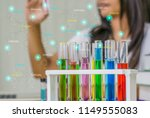 young woman chemist work... | Shutterstock . vector #1149555083