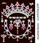 illustration set of jewelry... | Shutterstock .eps vector #1149556199
