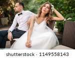 newlywed coupe sitting on a...   Shutterstock . vector #1149558143