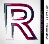 abstract vector letter r from... | Shutterstock .eps vector #114956104