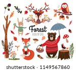 Forest Elements Collection Wit...