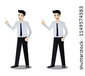 two characters of good looking... | Shutterstock .eps vector #1149574583