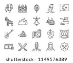 turkey icon set. included icons ... | Shutterstock .eps vector #1149576389