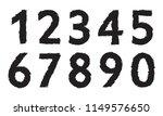 grunge brush stroke numbers  | Shutterstock .eps vector #1149576650