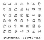 fashion hand drawn icon set  ... | Shutterstock .eps vector #1149577466