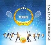 tennis shiny background | Shutterstock .eps vector #114957973