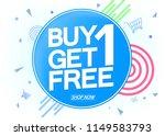 buy 1 get 1 free  sale poster... | Shutterstock .eps vector #1149583793
