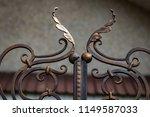 wrought iron gates  ornamental... | Shutterstock . vector #1149587033