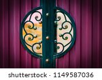 wrought iron gates  ornamental... | Shutterstock . vector #1149587036