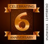 realistic six years anniversary ...   Shutterstock .eps vector #1149588560