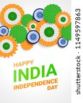 happy independence day india.... | Shutterstock .eps vector #1149597863