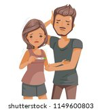 infertility couple. women have... | Shutterstock .eps vector #1149600803