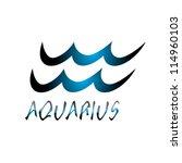 aquarius  zodiac sign vector... | Shutterstock .eps vector #114960103